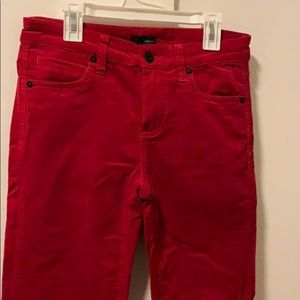 Pants - Red stretchy corduroy pants